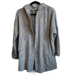 Cloth by RD Cable knit hooded cardigan - s…